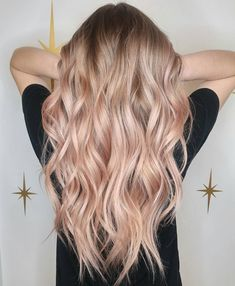 Blonde pink balayage, pink ombre hair, blonde hair pink tips, rose gold Blond Rose, Rose Gold Hair Blonde, Peach Hair, Brown Ombre Hair, Rose Hair, Blonde Hair Pink Tips, Blonde To Pink Ombre, Pearl Blonde, Ombre Hair For Blondes