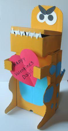 Dinosaur Valentine's Box ~ Xavier's 2014