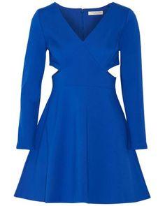 Halston   Blue Cutout Stretch-jersey Mini Dress   Lyst