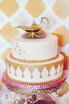 Roll out the carpet ... a magic carpet … and prepare to transport your wedding guests to an exotic place and time. Think desert oasis or luxurious harem, a la Harem Nights. I just compiled a fantastic for an Arabian inspired cake!