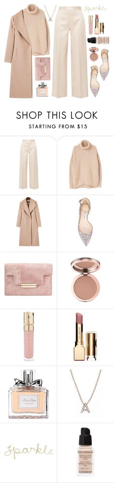 """""""31/12/2016"""" by anamarija00 ❤ liked on Polyvore featuring The Row, MANGO, Jimmy Choo, Smith & Cult, Clarins, Christian Dior, Bony Levy, Givenchy, rose and nude"""