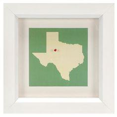 Framed Pin Your Hometown Shadowbox Dark Frame$99