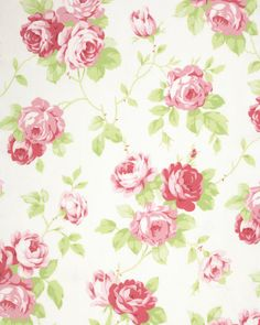 New Tanya Whelan Collection! Pre-Sale Lulu Roses PWTW092.WHITE, Shabby Chic Floral Fabric, Free Spirit, Roses Fabric