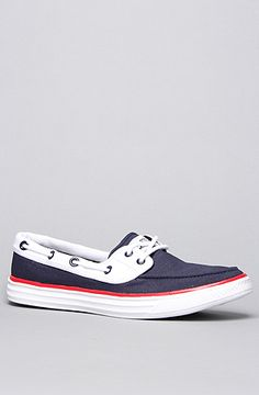Converse The Chuckit Sail Boat Shoe in Athletic Navy White