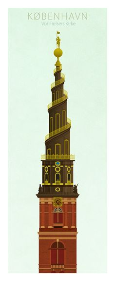 Towers of Copenhagen by Dominique Jal, via Behance