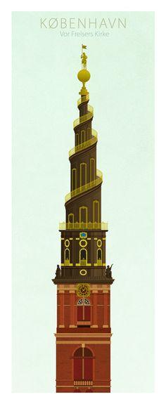 Towers of Copenhagen by Dominique Jal, via Behance