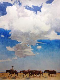 Teal Blake painting