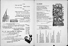 Camberwell Illustration 1: Manifestos  Dada publication which sought to illustrate its ideals of Dadaism in the unconventional layout and use of type. The Dada movement featured mostly the visual arts and graphic design, but also poetry, experimental sound and music, art manifestos, art theory, literature, theatre/performance (see Cabaret Voltaire). It had a strong anti-war stance and used anarchistic expression visually, sonically, and in its use of language, to grab attention.
