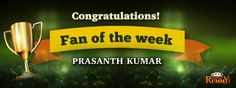 """Congratulations """"Prasanth Kumar"""" you are our fan of the week winner!  For more details about the offers check the link below: https://www.classicrummy.com/social-rummy-games-online?link_name=CR-12"""