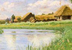Ferdynand Ruszczyc - Wieś nad rzeką, 1900