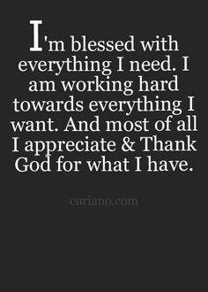 I'm blessed...