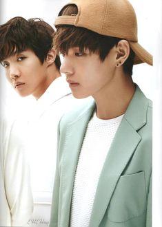 jung hoseok x kim taehyung for the star magazine march issue 2015 Jungkook V, Namjoon, V Taehyung, Bts Bangtan Boy, Bts Boys, Billboard Music Awards, Bts J Hope, 2ne1, Foto Bts