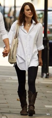White button-down look