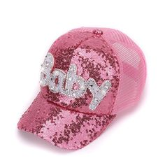 New Real Mesh Cap For Children Gift Baseball Caps Baby Diamond Sequin Sun  Hats Adjustable Summer Kids And Hat Snapback 59ab0e1f3f6
