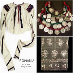 Folk Art, Cross Stitch, Textiles, Culture, Costumes, How To Wear, Clothes, Collection, Tops