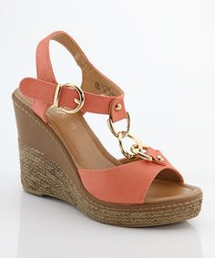 Look at this Bella Marie Coral Chain NXT Wedge Sandal on #zulily today!