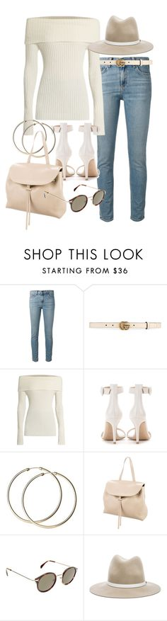 """""""Untitled #21072"""" by florencia95 ❤ liked on Polyvore featuring rag & bone, Gucci, The Row, Gianvito Rossi, Mansur Gavriel and CÉLINE"""
