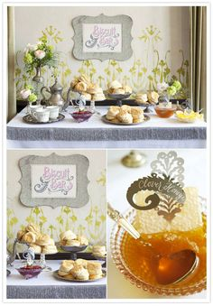biscuit bar what? I love this idea for a morning wedding or brunch! Nothing like a warm biscuit and honey!