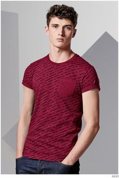 Next connects with British model Matthew Holt to show a lineup of fun, contemporary t-shirts. Hitting the studio, Matthew sports graphic t-shirts that tack Polo T Shirts, Cut Shirts, Casual T Shirts, Men Casual, Poses Modelo, Look Cool, Shirt Style, Shirt Designs, Lineup