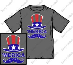 Easy Prints® Design Ideas for Memorial Day T-shirts. Decorate blank ...