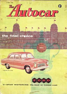 Autocar Magazine Cover 2nd May 1958 Ford 100E