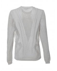 Long Sleeve Fringe Knit Sweater