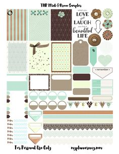 Adesivos para planner grátis para imprimir - blog Meu Lar Doce Lar
