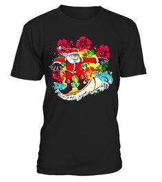 32ce348ef049 Surfing Santa Retro Christmas Hawaiian Shirt . Special Offer
