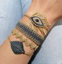 Macrame Design, Macrame Tutorial, Macrame Jewelry, Bangles, Silver, February, Instagram, Gold, Accessories