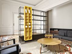 Open divider bookcase LITERATURA OPEN by Punt | design Vicent Martínez