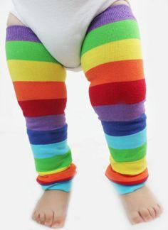 Baby to Toddler Rainbow Baby Leg Warmers, Catepillar Halloween Costume, Dress Up, on Etsy, $15.00