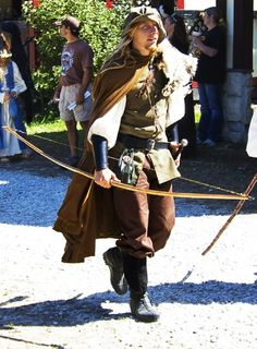 Reenactment medieval archer