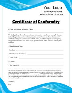 1000 images about certificate templates on pinterest for Certificate of conformance template word