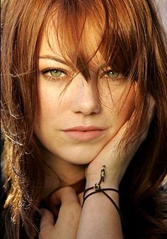 """Emma Stone born-Emily Jean Stone.  Fave quote from her: """"I've got a great family and great people around me that would be able to kick me in the shins if I ever for one minute got lost up in the clouds. I've been really lucky in that sense""""."""
