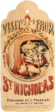 Wings of Whimsy: A Visit From St. Nicholas -12 Printable Tags - free for personal use #vintage #victorian #bookpage #printables Christmas History, Christmas Past, Christmas Books, Christmas Decor, Christmas Ideas, Christmas Tags Printable, Free Printable Tags, Free Printables, Victorian Christmas