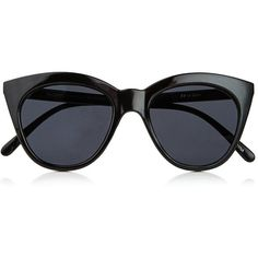Le Specs Halfmoon Magic found on Polyvore featuring accessories, eyewear, sunglasses, glasses, black, occhiali, dark tinted sunglasses, half moon glasses, cat eye sunglasses and cateye sunglasses