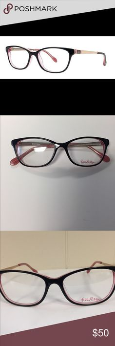 NWOT; Lilly Pulitzer Wakely Frame NWOT; These black frames have a touch of pink that really makes this frame pop! Comes with authentic Lilly Pulitzer case Lilly Pulitzer Accessories Glasses