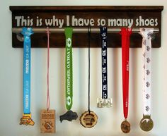 What to do with race medals: Build your own medal hanger | Earn ...
