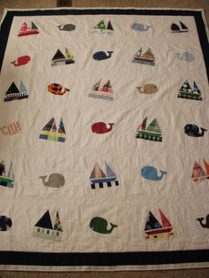 Baby clothes quilt custom made for Natalie by RobinSewCrazy