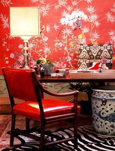 Bright Home Office Decoration #offices, #flowers, #homedecor, #pinsville