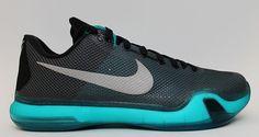 new product 34faf f9478 NEW Nike Kobe X 10 Elite Low Radiant Emerald Black Bryant Laker 705317-002  SZ