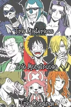 one piece trio monstruoso - Buscar con Google