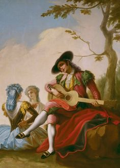 Polyster Canvas ,the High Definition Art Decorative Prints On Canvas Of Oil Painting 'Bayeu Y Subias Ramon El Majo De La Guitarra Ca. 1778 ', 24 X 32 Inch / 61 X 82 Cm Is Best For Bathroom Gallery Art And Home Decor And Gifts Francisco Goya, Spanish Painters, Spanish Artists, Witch Painting, Troy, Madrid, Old Master, New Art, Find Art