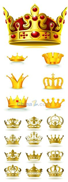 European-style exquisite Crown vector material
