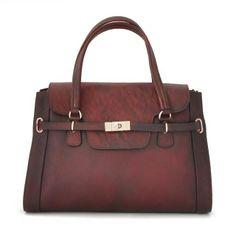 Pratesi,Baratti, women leather handbag with shoulder strap,citybag.Made in Italy.