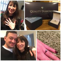 Nic an Angela needed to replace their faulty High Street engagement ring. They chose a fabulous 0.70ct round brilliant diamond, and had it set in our tiffany style Amir solitaire setting - Gorgeous.