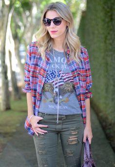 T Shirts Ideias Fashion, Plaid, T Shirt, Women, Health Tips, Viajes, Gingham, Supreme T Shirt, Tee Shirt