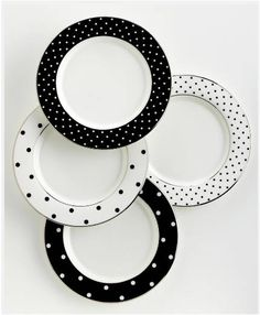 "kate spade ""Larabee Road"" Polka-Dot Tidbit Plates, Set Of 4, $74.95"