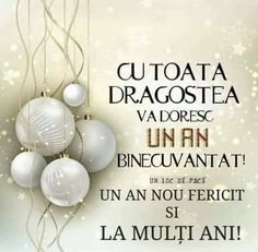 An Nou Fericit, Happy New Year Images, Christmas Quotes, Christmas Wallpaper, Happy Easter, Iris, Lily, Messages, Birthday