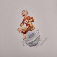 6 watercolors of Avatar: The Last Airbender characters Avatar Aang, Avatar Legend Of Aang, Team Avatar, Legend Of Korra, The Last Airbender Characters, Avatar The Last Airbender Art, Avatar World, Avatar Series, Zuko